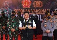 Panglima TNI, Kapolri, Gubernur Pantau Vaksinasi Prajurit